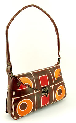 Chapati Shoulder Bag - Geo Pattern