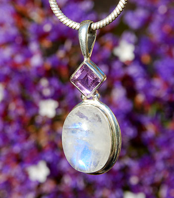 Moonstone & amethyst - medium